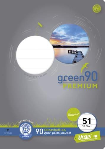 Format Werk Oktavheft A6 Lin.51 Ursus Green