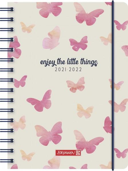 Baier & Schneider Schülerkalender 21/22 A5 1Seite=1Tag PP Butterfly