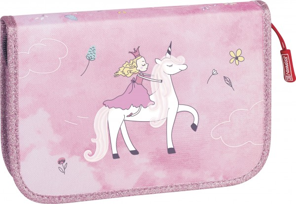 Baier & Schneider Schüler-Etui 2 Klappen Unicorn Princess