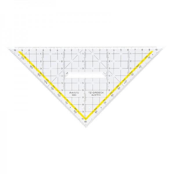 GEOtec Geometrie-Dreieck 22,5cm TZ mit Griff