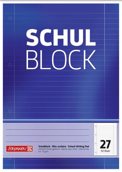 Baier & Schneider Schulblock A4 Lin.27 50Blatt