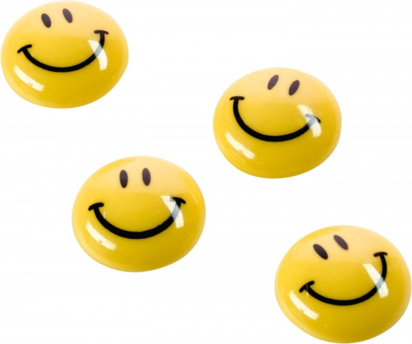 Magnetoplan Holtz Magnet Smilies 20mm gelb 8 Stück