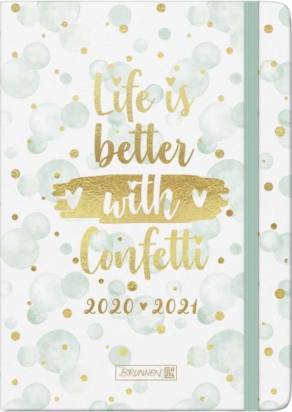 Baier & Schneider Schülerkalender 20/21 A5 2Seiten=1Woche Textil Confetti