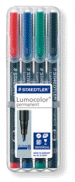 STAEDTLER Folienstift Lumocolor B permanent 4St Box
