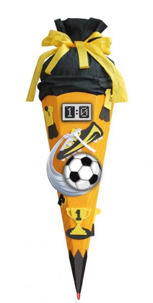 Schultüte Bastelset Soccer 68 cm gelb