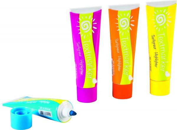 Baier & Schneider 4er Set Textmarker fresh splash FunCollection