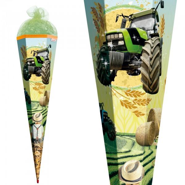 "Roth Schultüte ""Traktor"" 85cm Netz Folie & Netzverschluss"