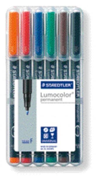 STAEDTLER Folienstift Lumocolor 6St Box permanent