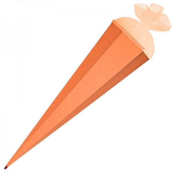 Schultüte zum Basteln 85 cm orange