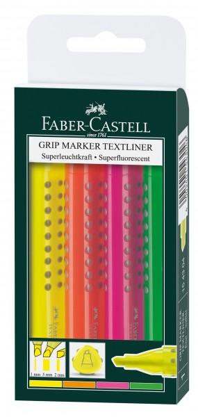 A.W. Faber-Castell Textmarker GRIP 1543 4er Etui