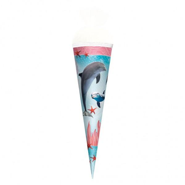 """Roth Schultüte """"Delfin mit Seesternen"""" 50cm"""