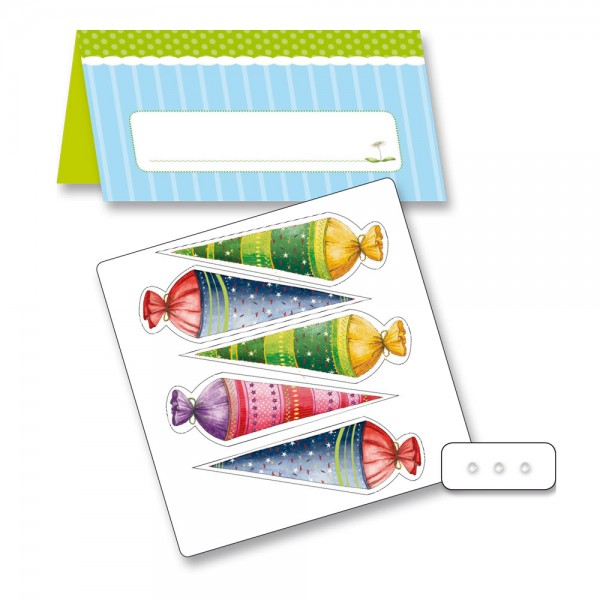 Roth Tischkarten 3D Hallo Schule selberbasteln, Farbauswahl