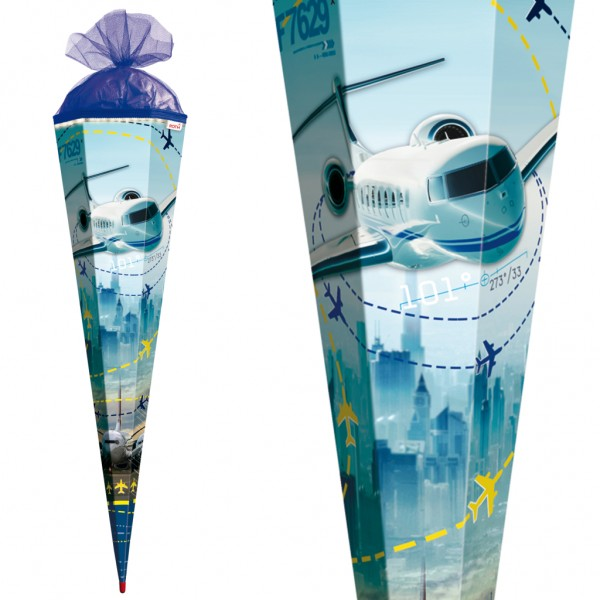 "Roth Schultüte ""Flugzeug"" 85cm LED-Band"