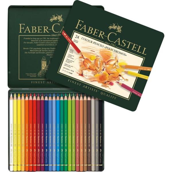 A.W. Faber-Castell Farbstift Polychromos 24-er Metalletui