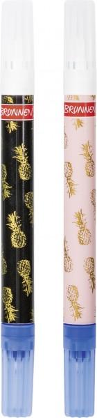 Baier & Schneider Brunnen Tintenfresser Mini RVS Pineapple