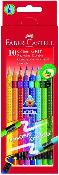 A.W. Faber-Castell Buntstift Colour GRIP 10er radierbar
