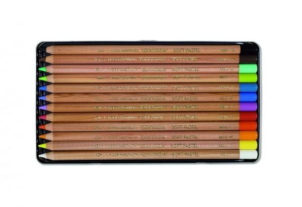 KOH-I-NOOR Pastellkreidestifte 12er im Metalletui