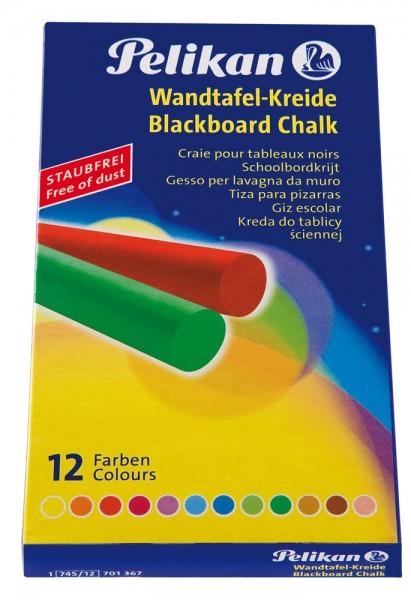 Pelikan Wandtafelkreide 12er farbig sortiert