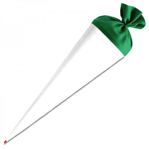 Schultüte zum Basteln 70 cm weiß/grün