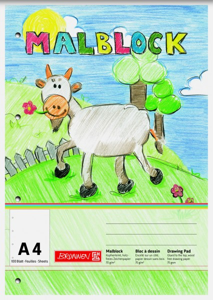 Baier & Schneider Malblock A4 100Blatt gelocht