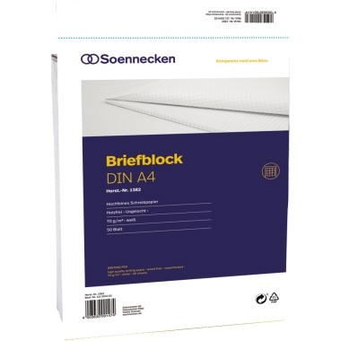 Soennecken eG Briefblock A4 rautiert ungelocht 50Blatt