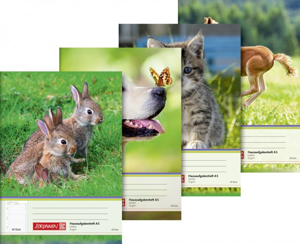 Baier & Schneider Hausaufgabenheft A5 48Blatt Tiermotive