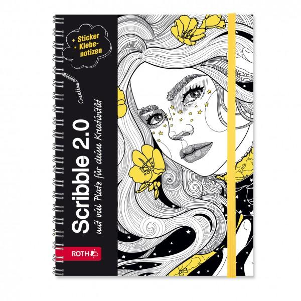 """Roth Schülerkalender Scribble Timer 2.0 """"Flower Power"""""""