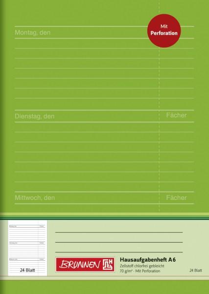 Baier & Schneider Hausaufgabenheft A6 24Blatt perforiert