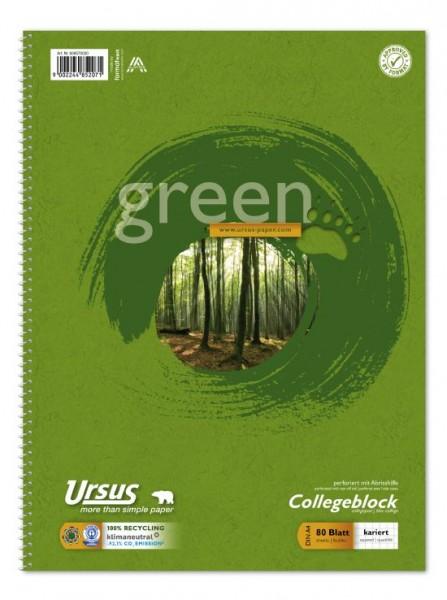 Format Werk Collegeblock Ursus® Green A4 kariert