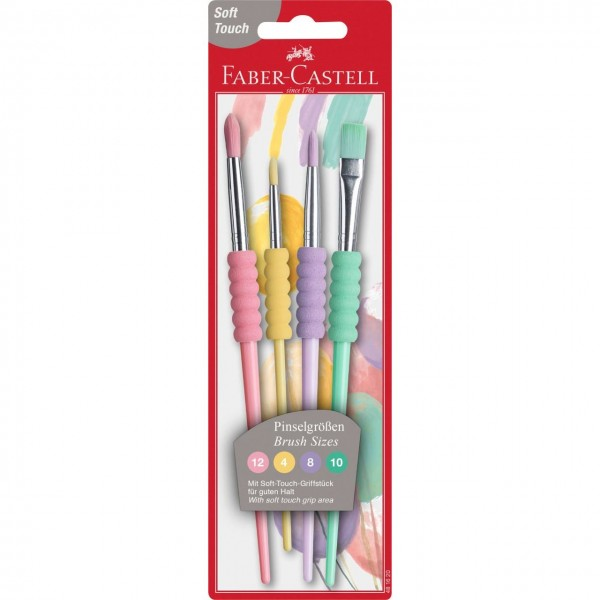 A.W. Faber-Castell Haarpinsel-Set Soft-Touch Synthetic
