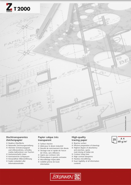 Baier & Schneider Entwurfblock T2000 A4 25Blatt 60g