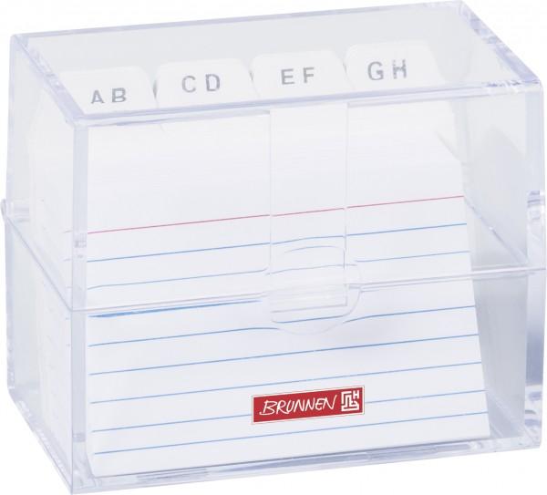 Baier & Schneider Karteibox A8 gefüllt transparent