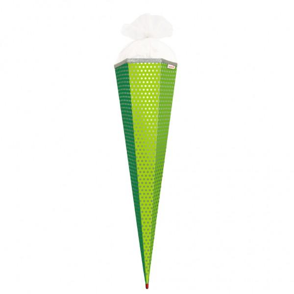 Roth Basteltüte mit Muster & Effekt Grün Punkte 85cm