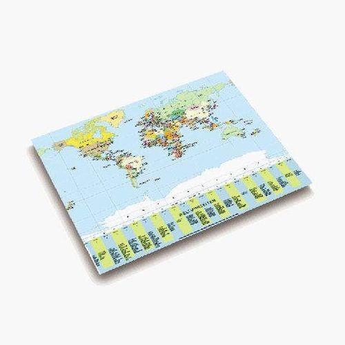 Gutenberg Schreibunterlage Landkarte Welt