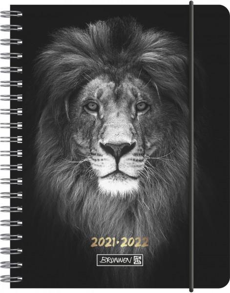 Baier & Schneider Schülerkalender 21/22 A6 2Seiten=1Woche PP Lion